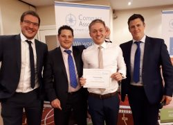 Compass Associates Values Awards Chris Russell, Mike Jeffreys, Tom Berrisford and Sam Leighton-Smith 2017