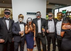 Rhys Gillings, Ben Cotton, Ani Abello, Tom Swinson, Adam King, Dave Reed & Rachel Kraan at Compass Associates End of Year Ball 2017