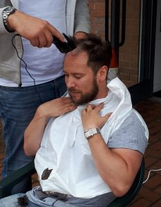 Ben Cotton Head Shave Charity Day 2