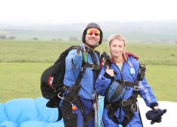 Natalie Lambert sky dive for Parkinson's UK