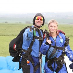 Natalie Lambert sky dive for Parkinson's UK