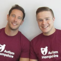 Ben and Ricky abseil for Autism Hampshire 2015