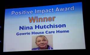 Scottish Care Home Awards 2017 Positive Impact Award Winner Nina Hutchison
