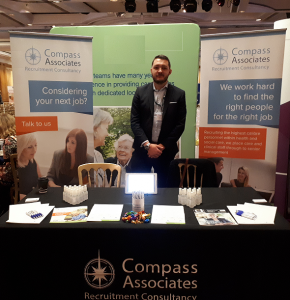 Scottish Care Home Conference, Awards & Exhibition 2017 Stuart Cousins on the stand