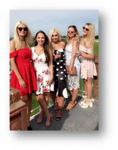 Sophie Katie Emily Jess Rachel at Goodwood 2018