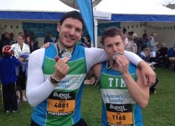 Tim and Chris Compass Associates Great South Run 2014