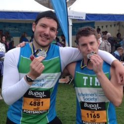 Tim and Chris Compass Associates Great South Run 2014
